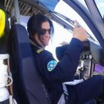 Beatriz Parera. Piloto de ultraligero. Piloto comercial de helicóptero. Piloto de vuelo libre. Más de cuatro mil quinientas horas de vuelo.