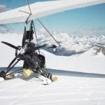 Aterrizado a 2800 m de altitud en el pico Cotiella